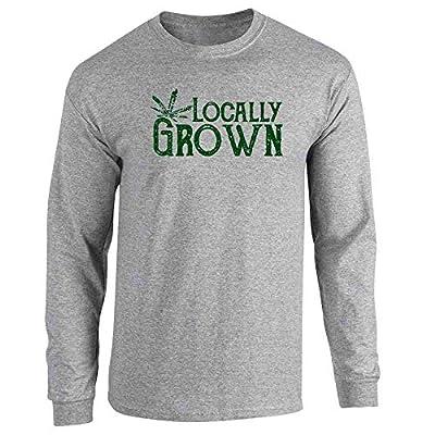 Locally Grown Marijuana Leaf Cannabis Pot 420 Sport Grey L Full Long Sleeve Tee T-Shirt by