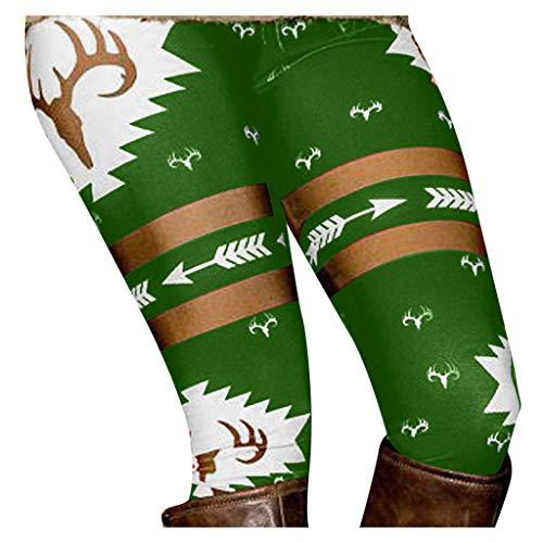 HEVÜY Leggings, Damen Frauen Winter Skinny Drucken Stretchy Legging Hosen Slim Leggings