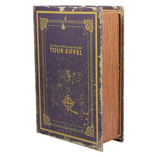 HEMOTON Caja de Libros Falsos Libros Decorativos Vintage Libros de La Biblia Cajas de Joyas para El Hogar Decoraciones de Estantería Cofre del Tesoro Estilo a