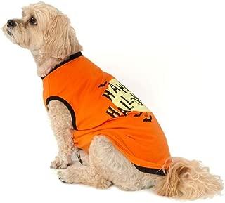 Thrills & Chills Orange Happy Halloween Dog Tee Costume