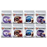 Paquete Tassimo Hot Choco - Vainas Cadbury, Oreo, Milka, Suchard - Paquete de 8 (80 porciones)