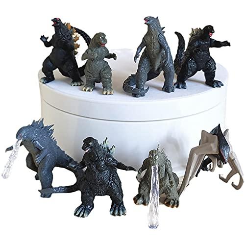 Film Godzilla Vs Kong Skull Island MUTO, 8 Pièces Ensemble Roi De Monstre Modèle Figurine d'action Collection Poupée Animale Enfants Jouets