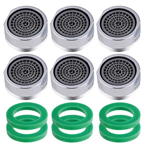DOITOOL 6pcs Faucet Aerators Kitchen Sink Aerators Replacement Parts for Bathroom Faucet 24mm