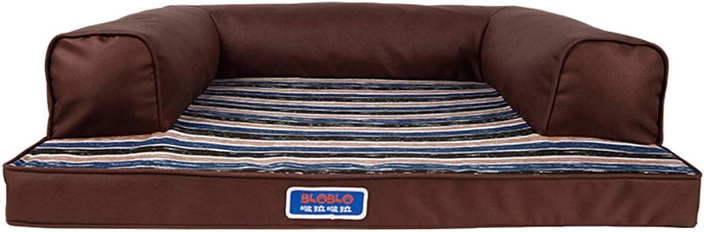 LXLA  Coffee Comfort Dog Bolsters Bed, Washable Pet Dog Sofa, Wearresistant & Nonslip (Size   M 89×68×20cm)