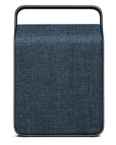 Vifa Oslo Bluetooth Speaker | Nordic Design | Perfect Portable Wireless Speaker with Smart APP, Compact Rechargeable Hi-Resolution Bluetooth Portable Speaker - Mountain Blue