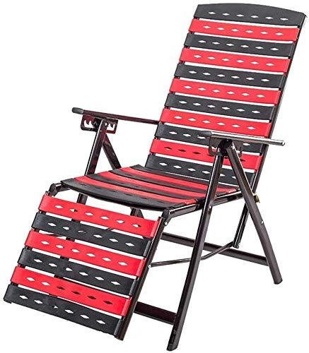 Klappstuhl Schaukel Lehnstuhl Verstellbarer Lehnstuhl Garten Büro Siesta Stuhl Faltbare Strandliege Terrasse Strand Balkon Relax LITING