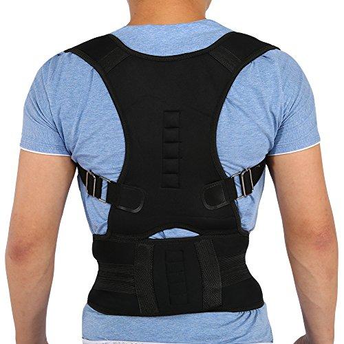 Brrnoo Correttore postura unisex con magnete, gambe regolabili per schiena lombare, gilet di correzione per correggere il gobbo