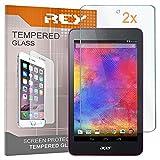 Pack 2x Pellicola salvaschermo per ACER ICONIA ONE 7, Pellicole salvaschermo Vetro Temperato 9H+, di qualità Premium Tablet