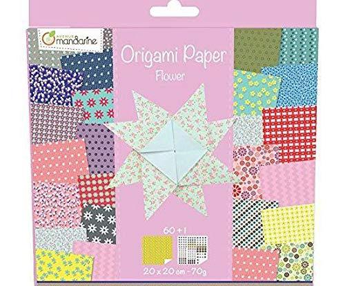 Origami 20x20cm (60pcs) Blumen, Schneiden Sie das Papier, Bastelbedarf, Handwerk Origami, die Kunst Papier, Origami-Kunst, Avenue Mandarine, Technik, Scrapbooking