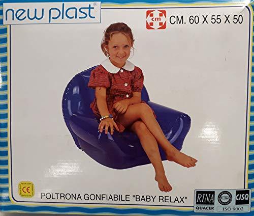 New Plast Fauteuil gonflable pour enfants Modèle Baby Relax Marque extérieure Couleur rose