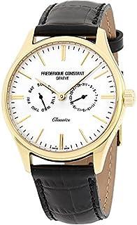 Frederique Constant Classics White Dial Leather Strap Men's Watch FC259BST5B5