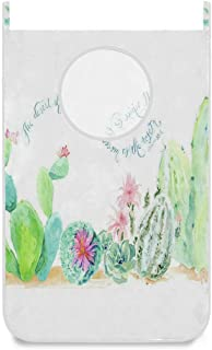 N\A Porte/Mur/Placard Suspendu Panier À Linge Aquarelle Désert Cactus Porte/Mur/Placard Suspendu Grand Sac À Linge Panier ...
