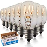 Salt Rock Lamp Bulb 6 Pack + 2 Free 15 Watt Replacement Bulbs for Himalayan Salt Lamps & Baskets,...
