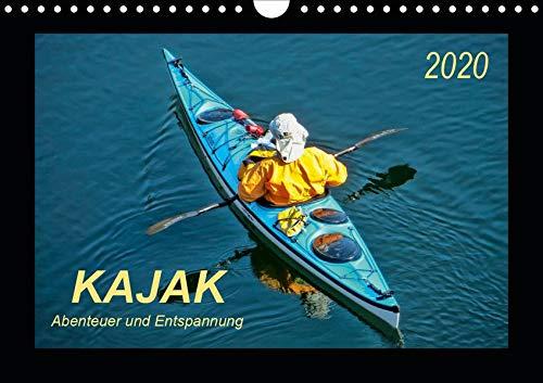Kajak - Abenteuer und Entspannung (Wandkalender 2020 DIN A4 quer): Kajak, wilde Flüsse bezwingen oder ruhig über das Wasser gleiten - Abenteuer und ... (Monatskalender, 14 Seiten ) (CALVENDO Sport)