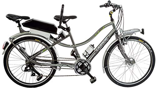 CICLI PUZONE BIBICI ELETTRICA E-Bike Alluminio Misura 26 Tandem Batteria 417 WH Art. E-TANDEM26