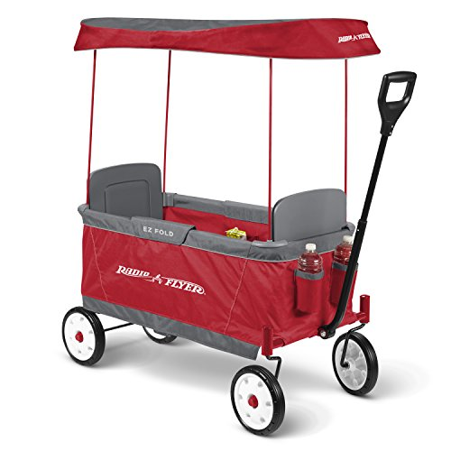 Radio Flyer Ultimate EZ Folding Wagon for kids and cargo, Red, Model Number:...