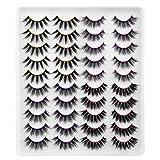 Newcally False Eyelashes 4 Styles Faux Mink Lashes 20 Pairs Long Dramatic Fluffy Volume Fake Eyelashes Value Pack
