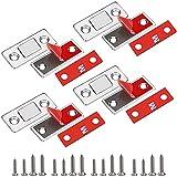 Perfetsell 4 Set Imanes Puertas Armario Cierre Magnetico Iman Puertas Adhesivo Ultrafino Plana Magnética Cierre para Cajon Cierre por Iman Fuerte para Cajones Armario Puertas de Gabinetes