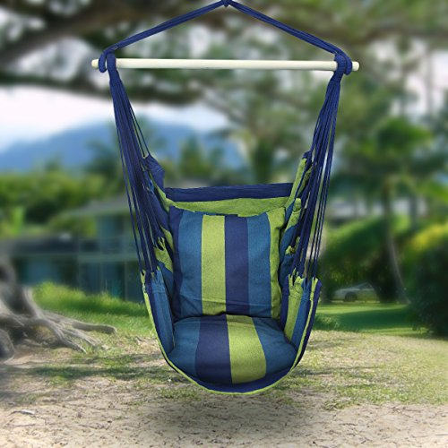 Sorbus Hammock Chair with 2 Seat Cushions
