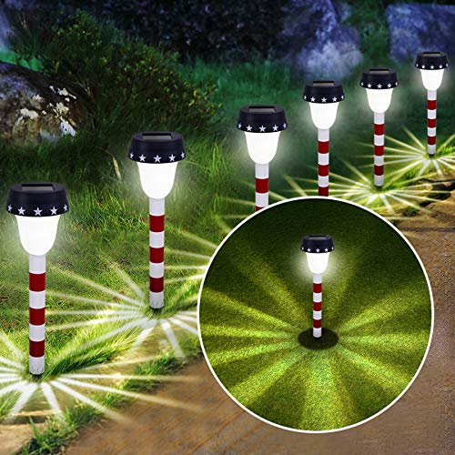 BEEZOK Solar Pathway Lights Outdoor Garden Lamp Pathway Lantern Landscape Lighting (JU1-15.75inch -8)