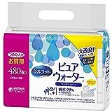 シルコット ウェットティッシュ ピュアウォーター 純水99% 詰替 480枚(60枚×8)