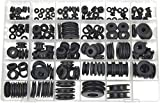Swordfish 20040 - Master Black Rubber Grommet Assortment, [29 Sizes], Package of 189 Pieces