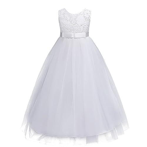 White Flower Girl Dress Amazon