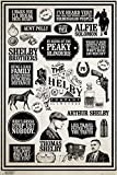 Close Up Peaky Blinders Poster Infographic (61cm x 91,5cm)