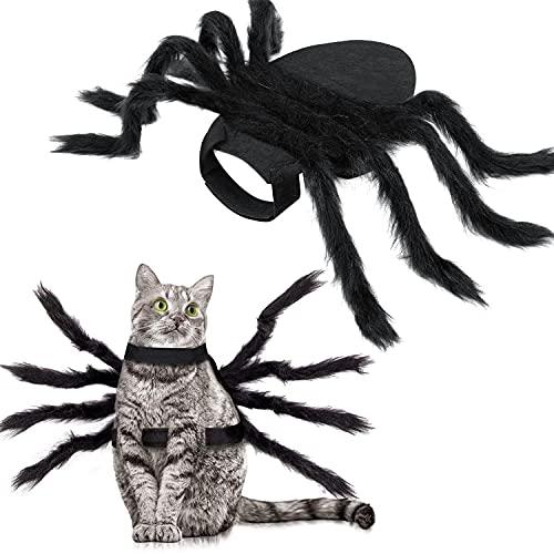 HalloweenSpiderCostumeforDogCat,HalloweenPetCostumeHalloweenDecorations,SpiderDecorHalloweenPartySupply,SpiderCosplayCostumeswithAdjustableVelcroforSmallMediumDogsandCats