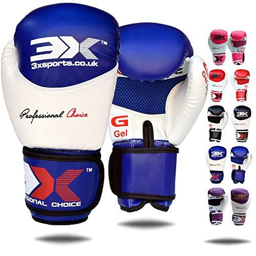 3X Professional Choice Guantes de Boxeo Cuero de Maya Cuero Muay Thai Saco de Boxeo Mitones Kickboxing Entrenamiento de Artes Marciales