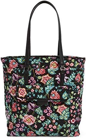 Vera Bradley Women s Signature Cotton Laptop Tote Bag Vines Floral product image