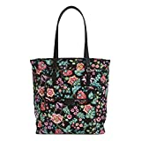 Vera Bradley Women's Signature Cotton Laptop Tote Bag, Vines Floral
