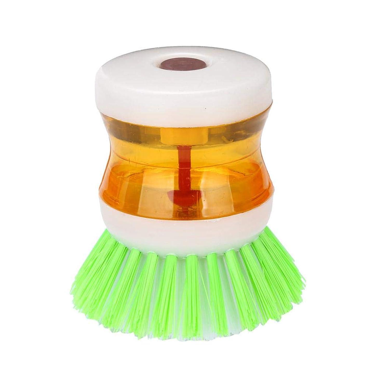Iusun Dishwashing Brush, Dish Brush with Washing Up Liquid Soap Dispenser Brush for Kitchen Utensil Pot Pan Dish Plate Washing (Random Color)
