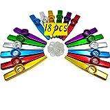 Best Kazoos - Fartime 18Pcs Metal Kazoos With 20Pcs Kazoo Flute Review