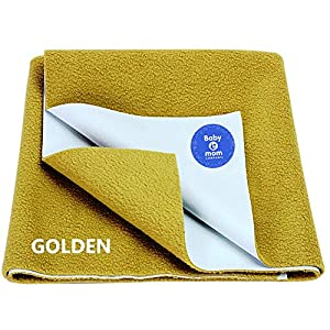BABY & MOM COMPANY® Bed Protector Waterproof for Baby Dry Sheet Golden Small Size (70cm x 50cm) 7 51HnHeSPacL. SS300