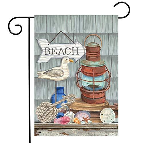 Briarwood Lane Beachy Vibes Summer Garden Flag Nautical Rustic Lantern 12.5'x18'