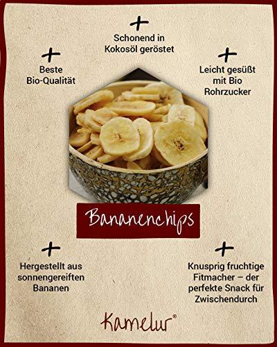 Bio Bananenchips geröstet, 1 kg mit Bio Rohrzucker gesüßt aus kbA - 2