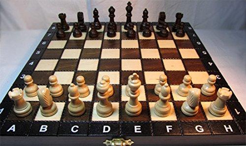 Chessebook CSHOOL - Ajedrez de Madera, Tablero de 27 x 27 cm