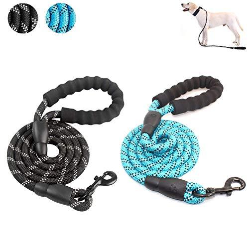 Stevige koordlijn voor honden, Duurzame lijn voor honden met comfortabele gewatteerde handgreep en sterk reflecterend garen Sterke hondenriem voor middelgrote en grote honden