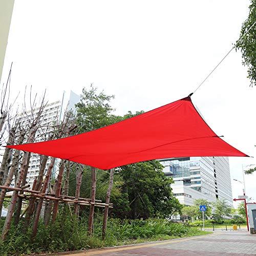 EBTOOLS Luifel rechthoekig waterdicht tuinzeil zonnescherm luifel baldakijn voor tuin open-Air-Café camping picknick zand, 3 x 4 m rood