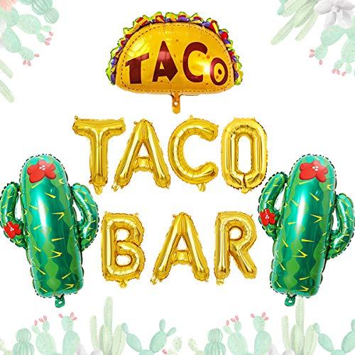 Jollyboom Taco Bar Decoraciones de Fiesta para Fiesta Mexicana Fiesta de cumpleaños Baby Shower Boda Despedida de Soltera Compromiso Despedida de Soltera Fiesta Cinco de Mayo Decoración