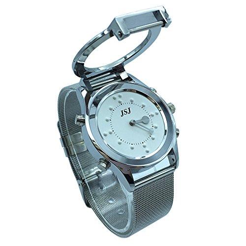 Reloj parlante y táctil braille con anuncio de la hora en francés para las personas ciegas o de edad avanzada, color blanco