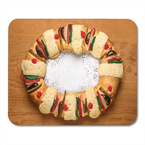 Alfombrilla de ratón Pan Pastel de epifanía Reyes Roscon De Reyes Rosca 575602477 Alfombrilla para portátiles, computadoras de Escritorio Alfombrillas de ratón, Suministros de Oficina
