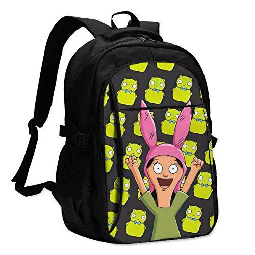 Lou-Ise Bel-Ch-Er Laptop Bag Backpack with USB Charging Port Travel...