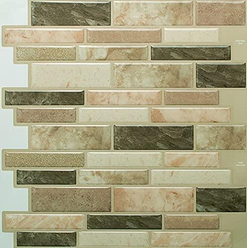 STIQUICK TILES Peel and Stick Backsplash - for Kitchen Decorative Tiles (10 Sheets) (10  X 10  10 Sheets, Polito Bella)