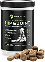 Pointpet Glucosamine For Dogs Hip And Joint Supplement Soft Chews 120 pcs - Dog Joint Health Treats - Dog Pain Relief - Joint Care Chews With Chondroitin MSM Omega 3 6 Vitamin C and E - Mobility Bites