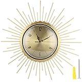Pssopp Reloj de Pared Reloj Colgante Redondo de Estilo Europeo Reloj de Pared Retro Decorativo para Sala de Estar, Dormitorio