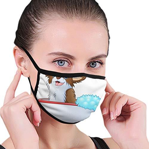 Niedliche Gesichtsmaske mit Hundemotiv, für Männer und Frauen, Outdoor-Sport, personalisierbar