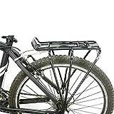 Portabultos Bicicleta Bastidores de bicicletas MTB aleación de aluminio de bicicletas portaequipajes trasero estantes de soporte de ciclo portaequipajes Alforjas Bolsa de accesorios de bicicletas Port