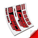 CUAC REVOLUTION Pegatinas Horquilla ROCKSHOX SID SL Ultimate 2020/2021 BTT MTB Fork Stickers AUFKLEBER ADESIVI Bike Decals (Rojo Reflectante)